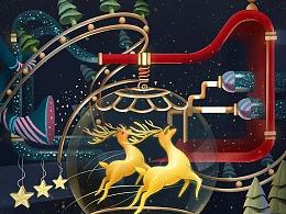 天猫圣诞海报