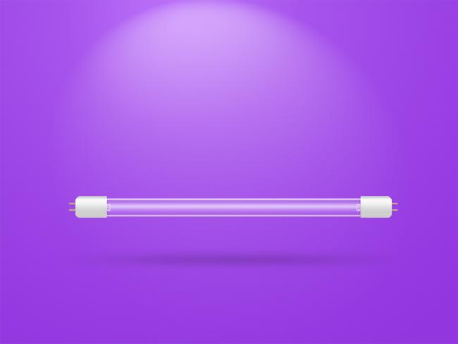 紫外线灭菌灯矢量图层灯管透明灯管|生活用品|工业