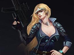 游戏原画学习-联盟步兵