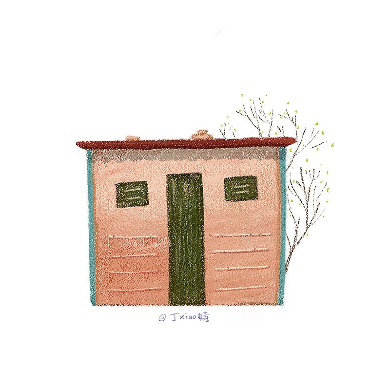 插画每日一图ps电脑手绘小房子4