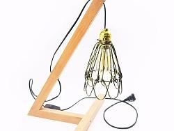小伙伴们目瞪口呆的美式极简风格实木家居装饰台灯