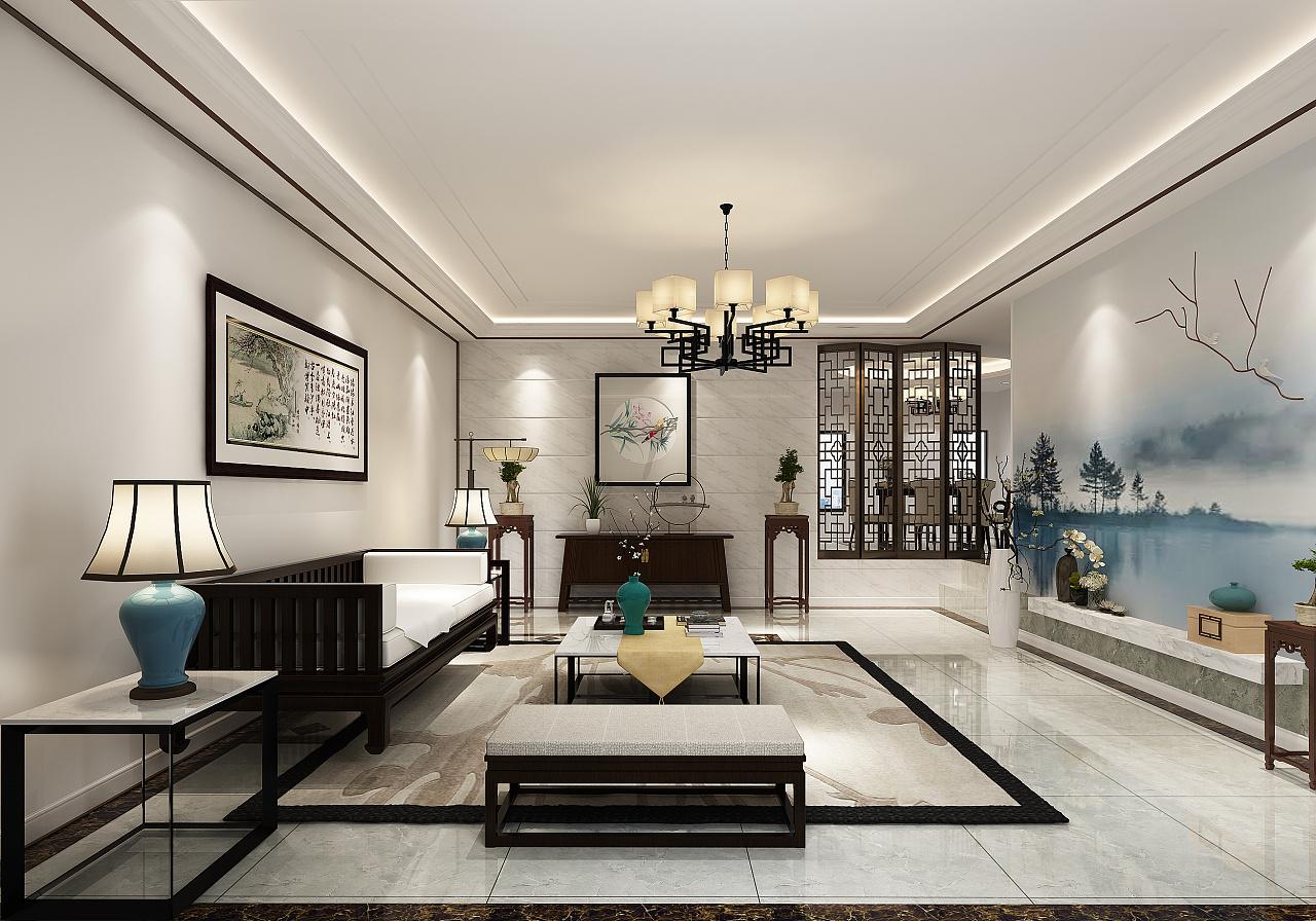 新中式禅意效果图设计-静逸空间|空间|室内设计|艺峰