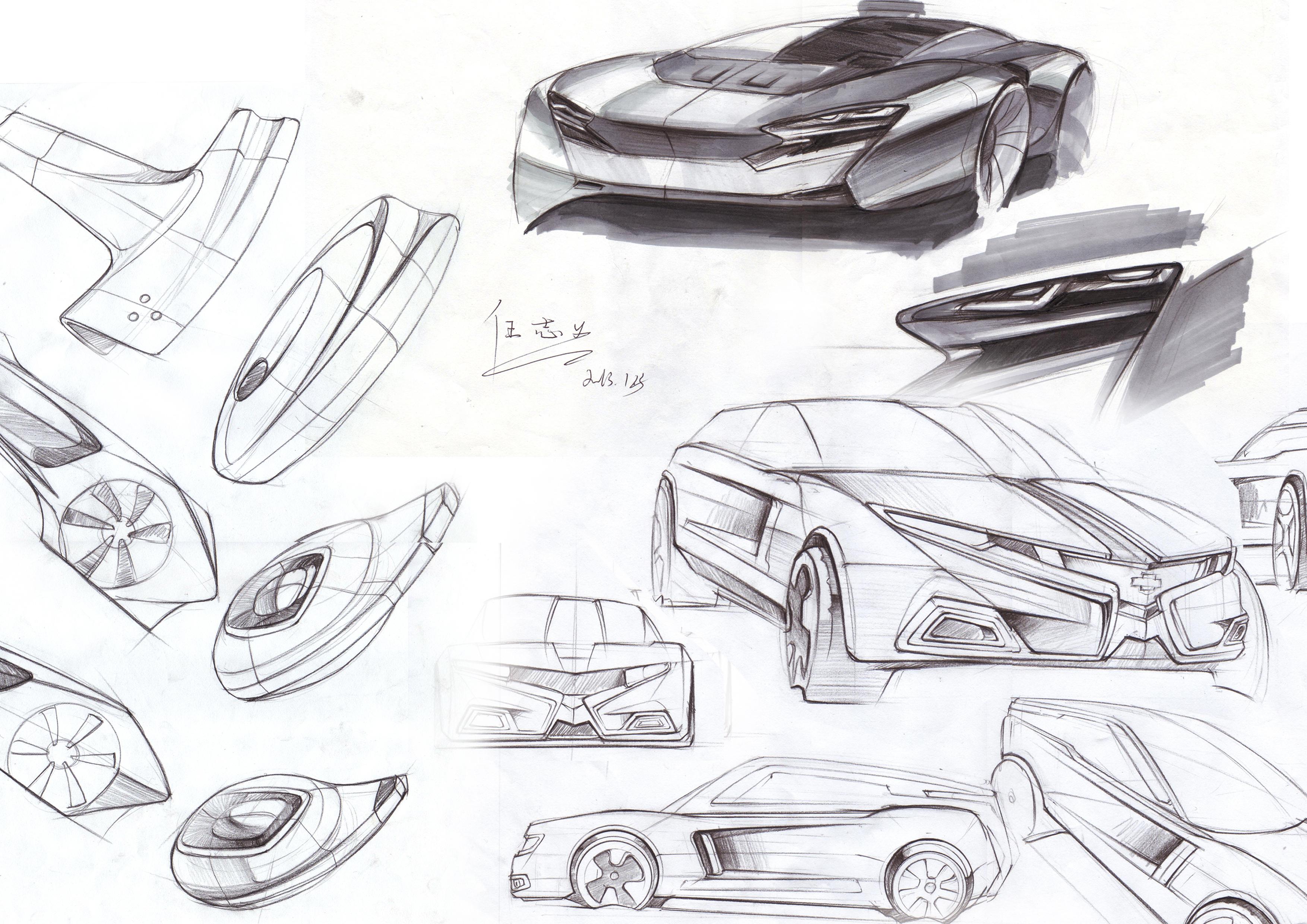 汽车手绘|工业/产品|交通工具|renzhiyi1990 - 原创