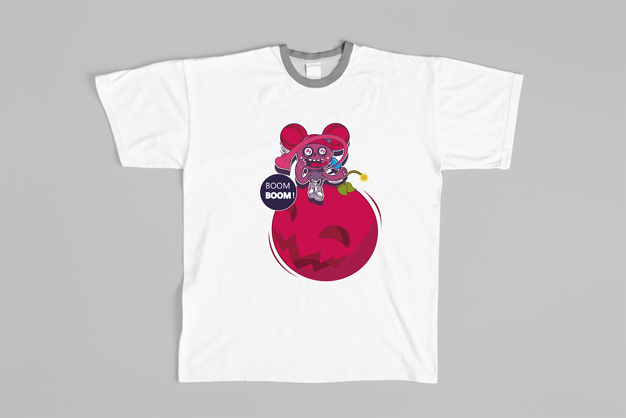 潮牌t恤图案设计