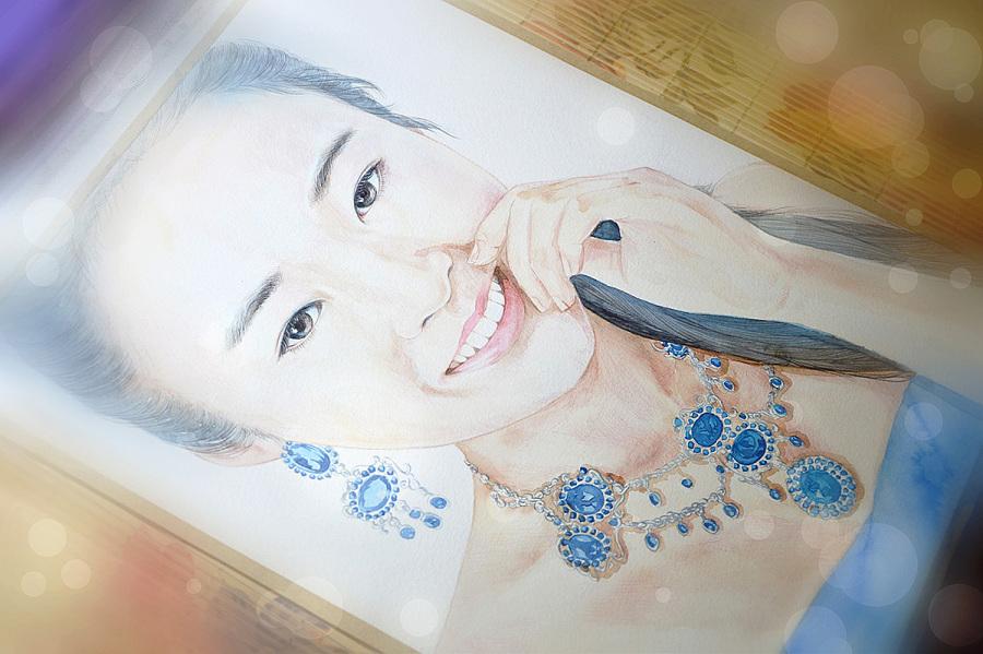 手绘文艺系列——《人物肖像》|商业插画|插画|阿骨
