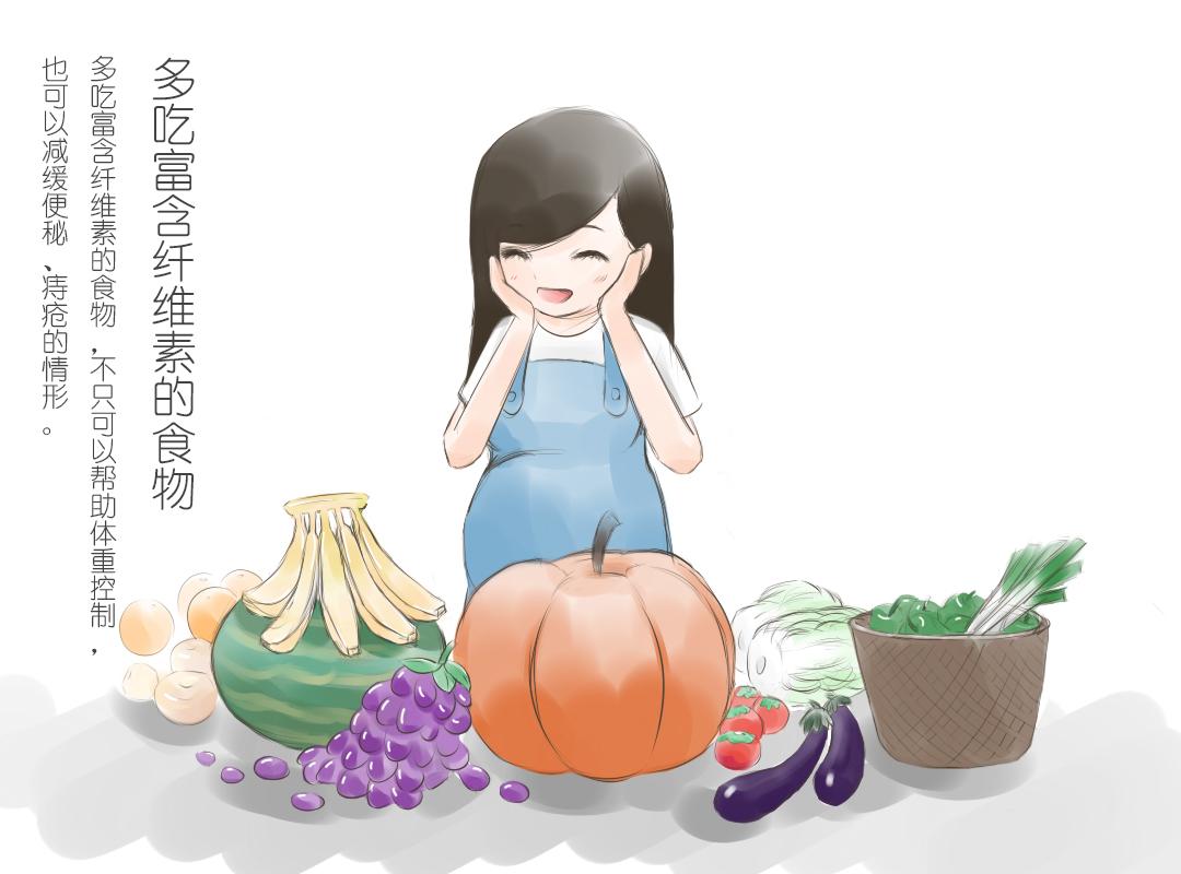 孕期小知识手绘插画完整版