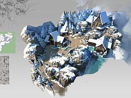洛克猴沙盘设计课范《北欧魔法雪村》