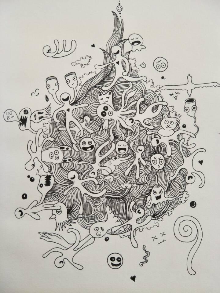 手绘水滴教程图