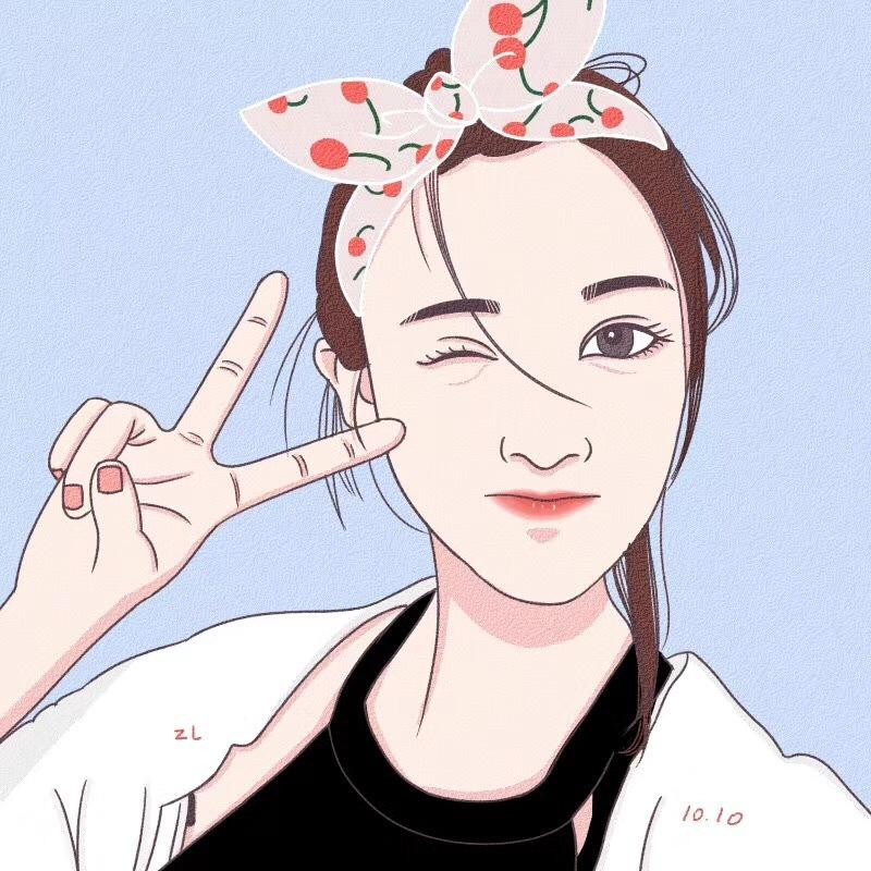 手绘头像|动漫|肖像漫画|朱王木木 - 原创作品 - 站酷