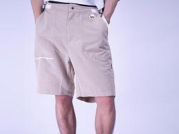 修身运动裤宽松短裤潮牌百搭复古夏季薄款阔腿工装裤