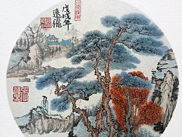 国画-松谷秋色