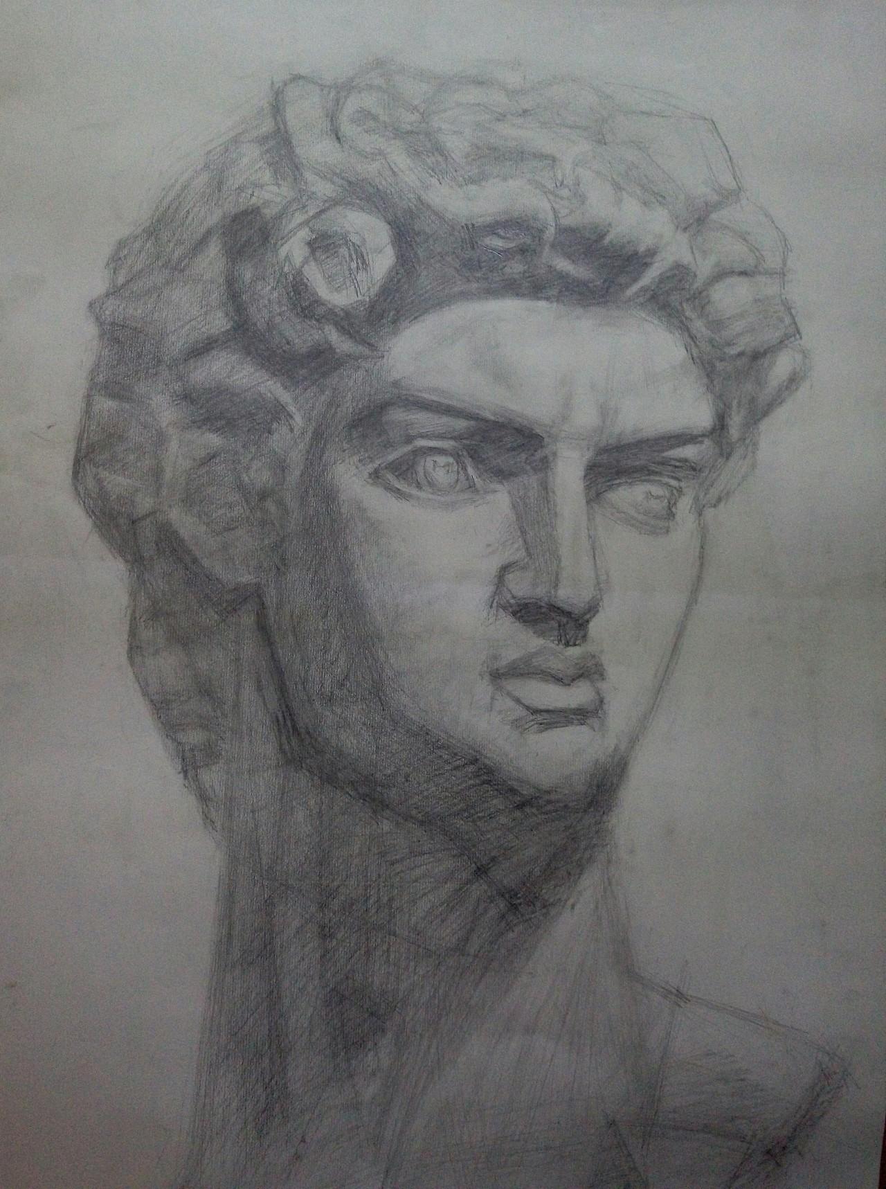 手绘图标及石膏像