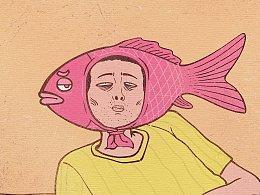 每日一画 Day653~659 集齐七条锦鲤,召唤一条咸鱼