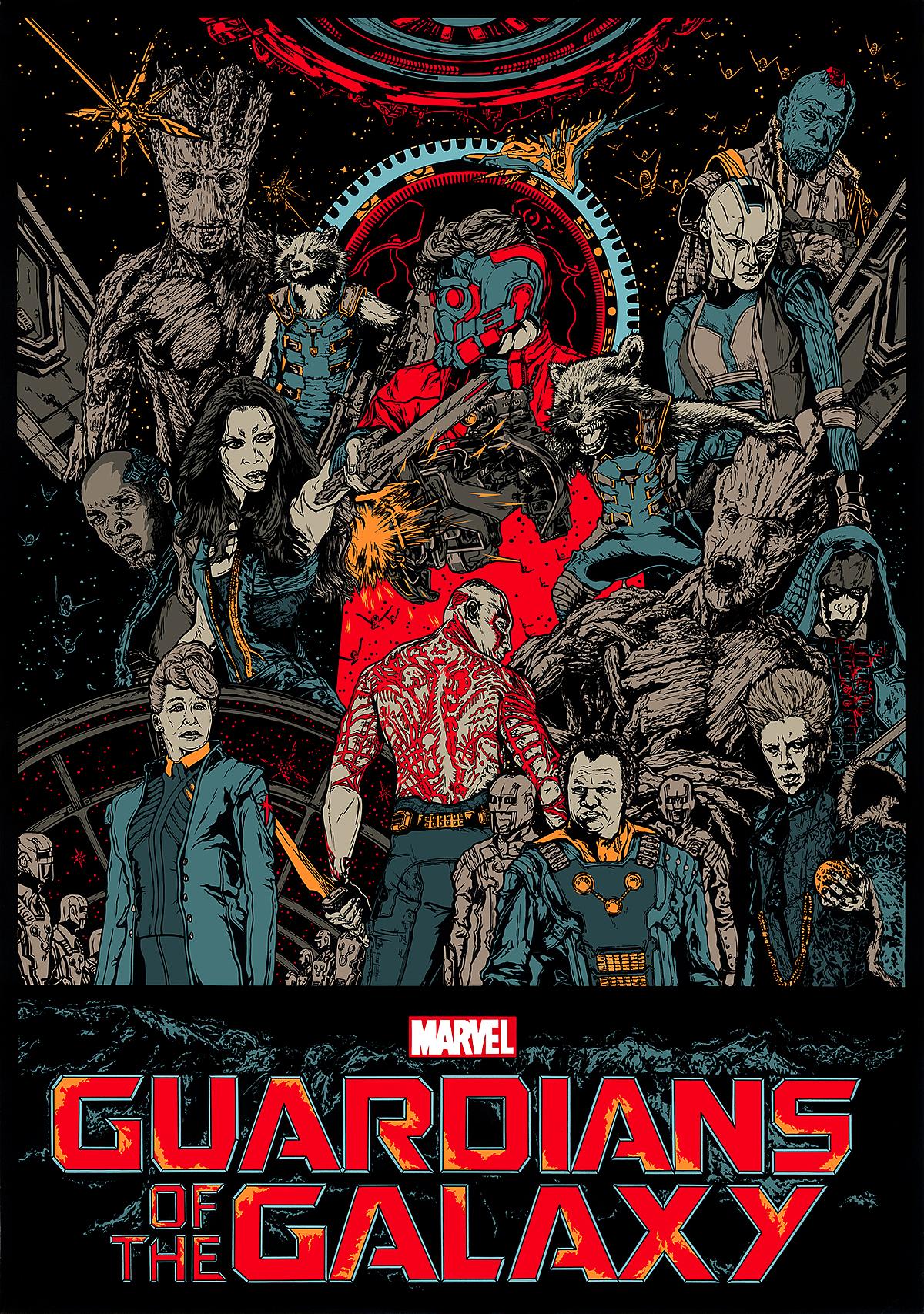 《银河护卫队》概念手绘海报