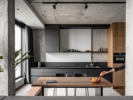 半毛胚水磨石风格-敞开式住宅