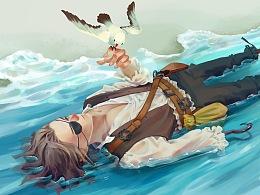 彼得潘-在水中