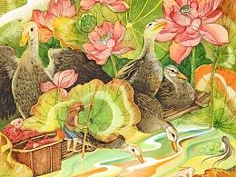 商业插画---红泥烤鸭蛋(秋冬系列)
