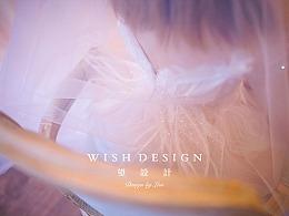 粉色蝴蝶婚纱设计