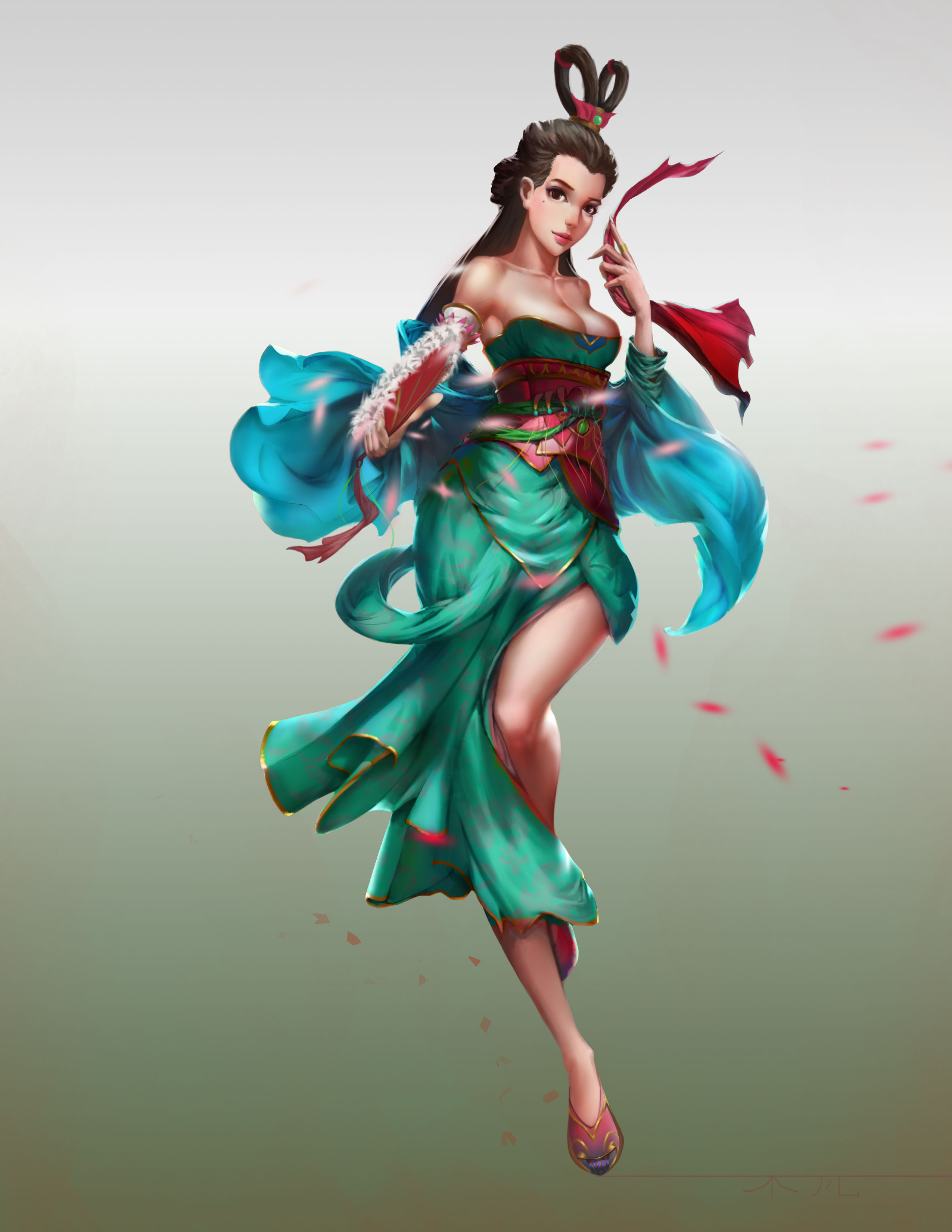 日本舞姬 原画设定 仙女 美女 游戏原画