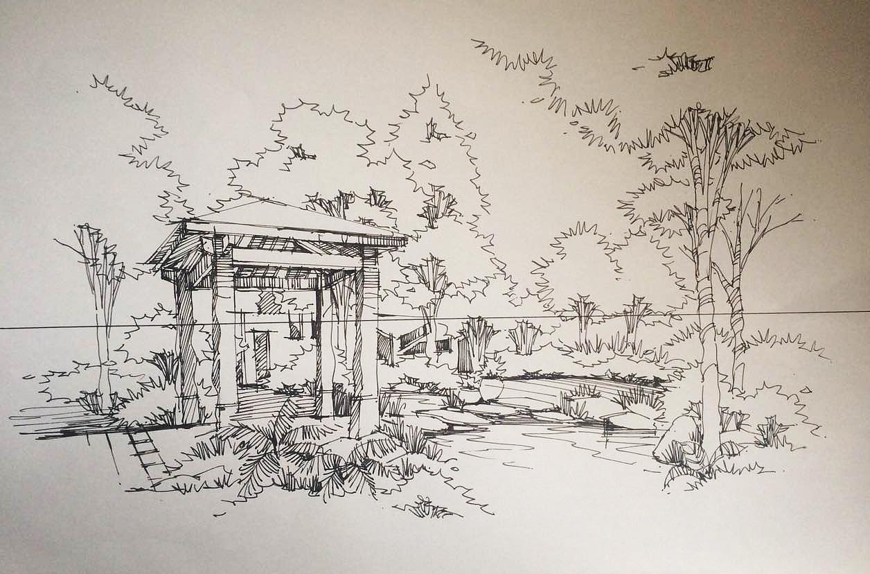 手绘练习|空间|室内设计|神叨叨的ly - 原创作品