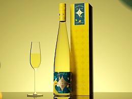 尚果酒业-星致果酒系列包装设计