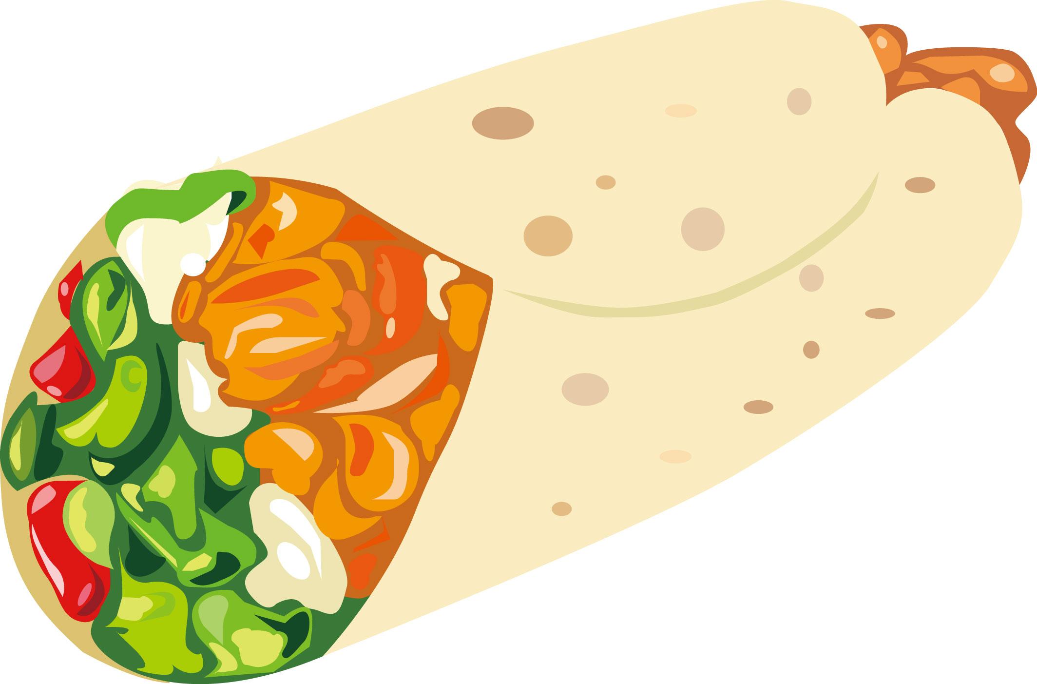 墨西哥鸡肉卷 矢量 蔬菜 鸡肉 卷饼 番茄酱 沙拉酱图片