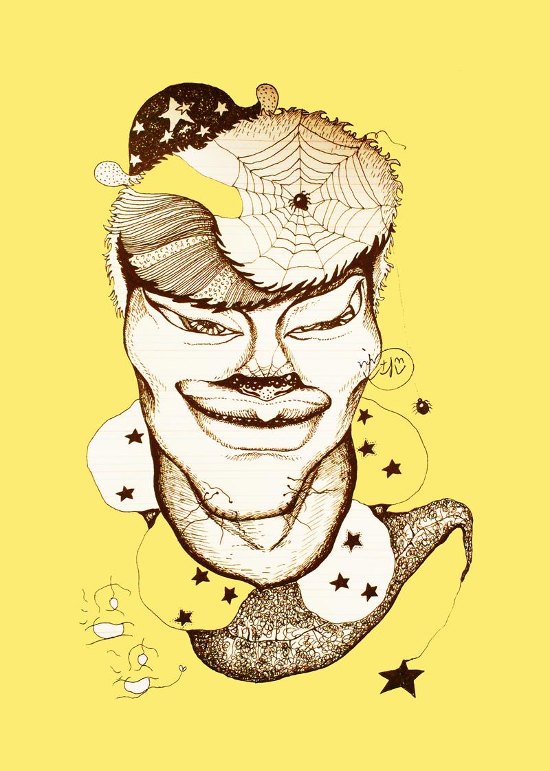 插话漫画涂鸦手绘怪异可爱人像画