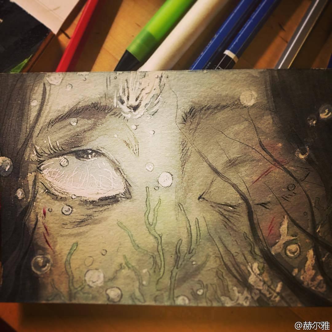 手绘|插画|插画习作|赫尔雅 - 原创作品 - 站酷