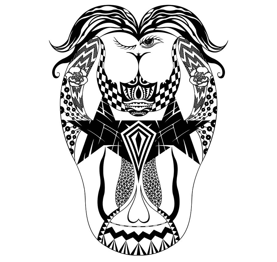 创意图形设计——双生怖|图形/图案|平面|鱼七设计图片