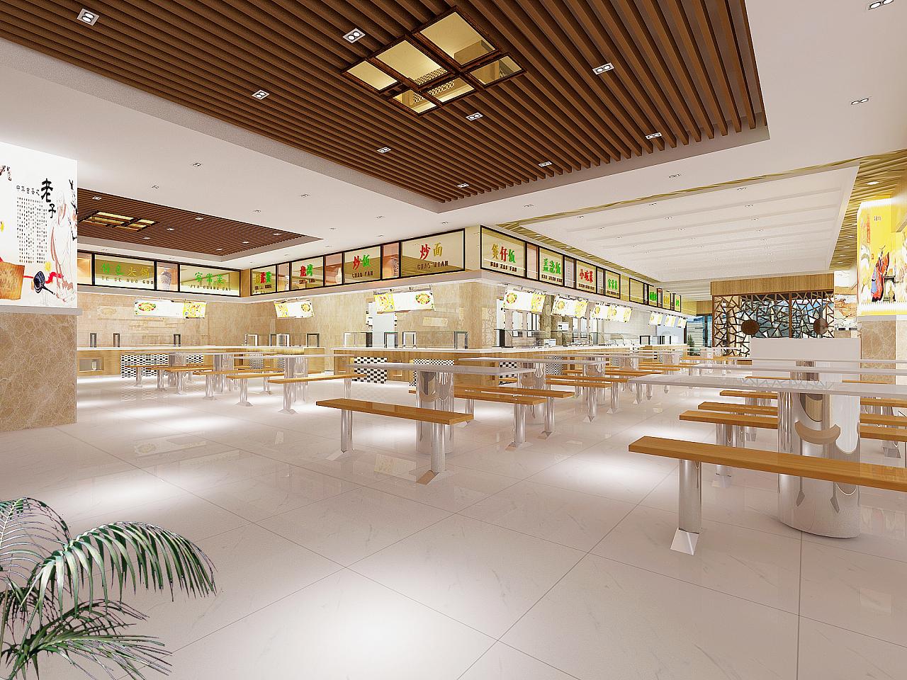 成都中式快餐厅设计效果图图片