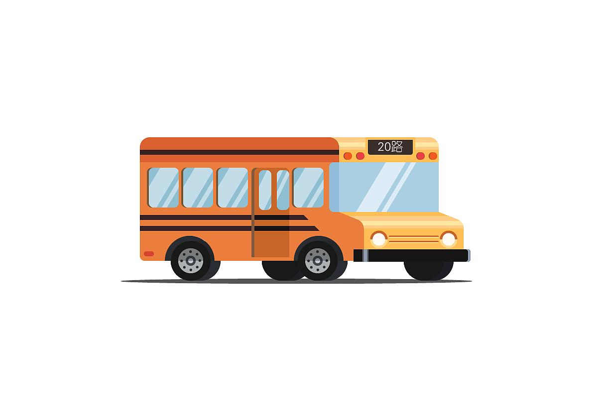 小清新巴士图片