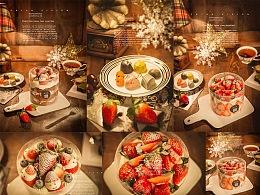 圣诞主题蛋糕拍摄
