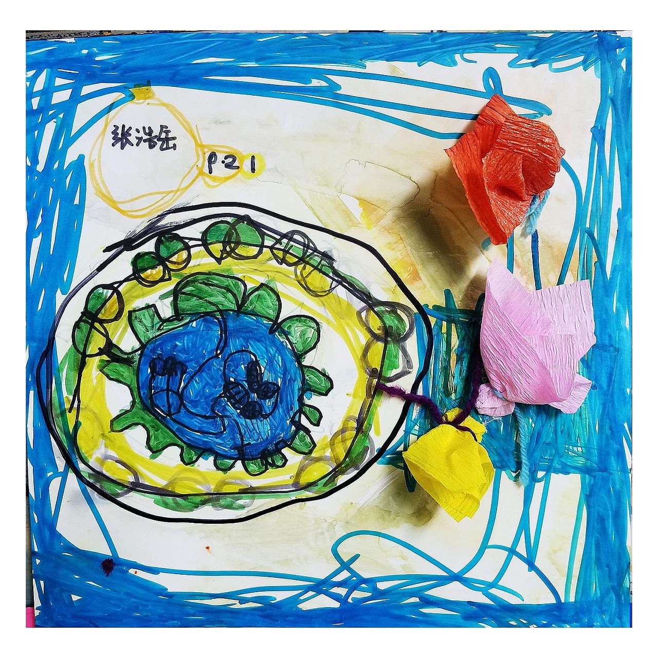 儿童手工制作画果盘