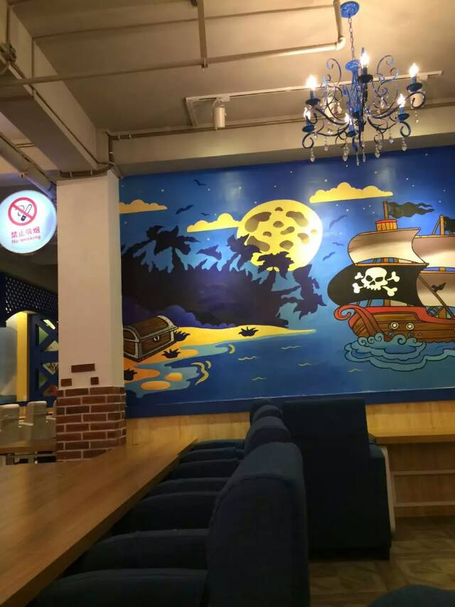 昆明手绘墙画墙体彩绘制作设计培训3d彩绘网吧网咖