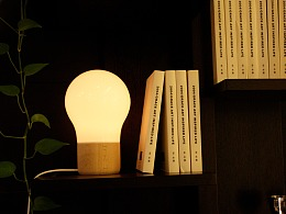 原木薄瓷台灯