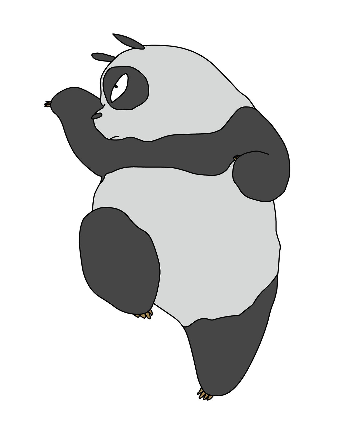熊猫班旗设计图案大全图片