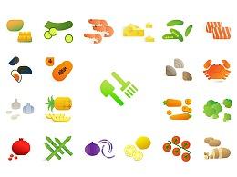 Food Stuffs Sticker 食谱食材贴纸作品