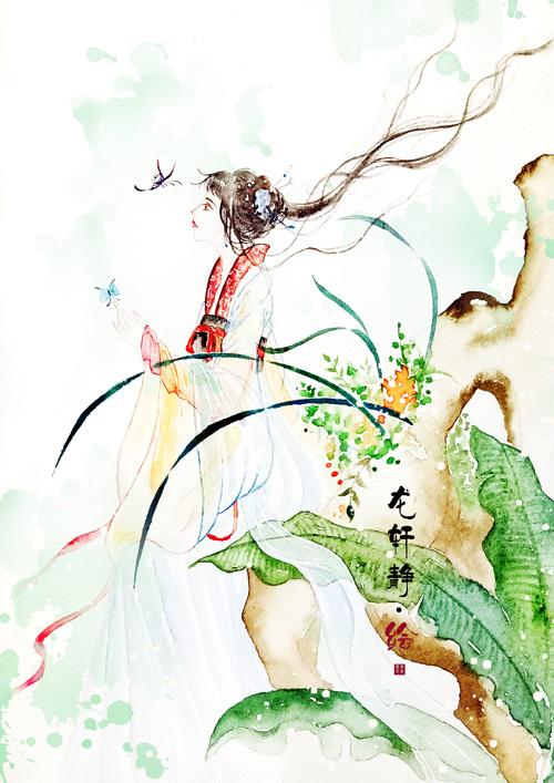 原创作品:古风水彩手绘