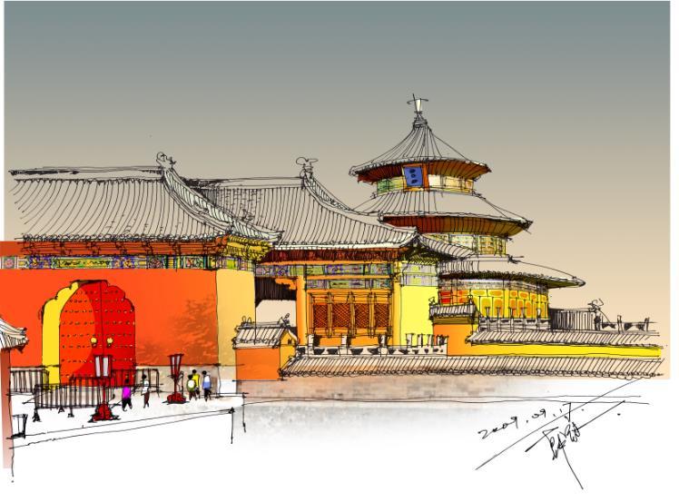 手绘北京|建筑设计|空间/建筑