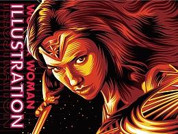 Wonder Woman 插畫 | 劉禹