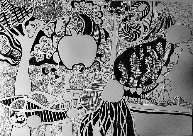 黑白画作品_黑白画作品图片大全图片