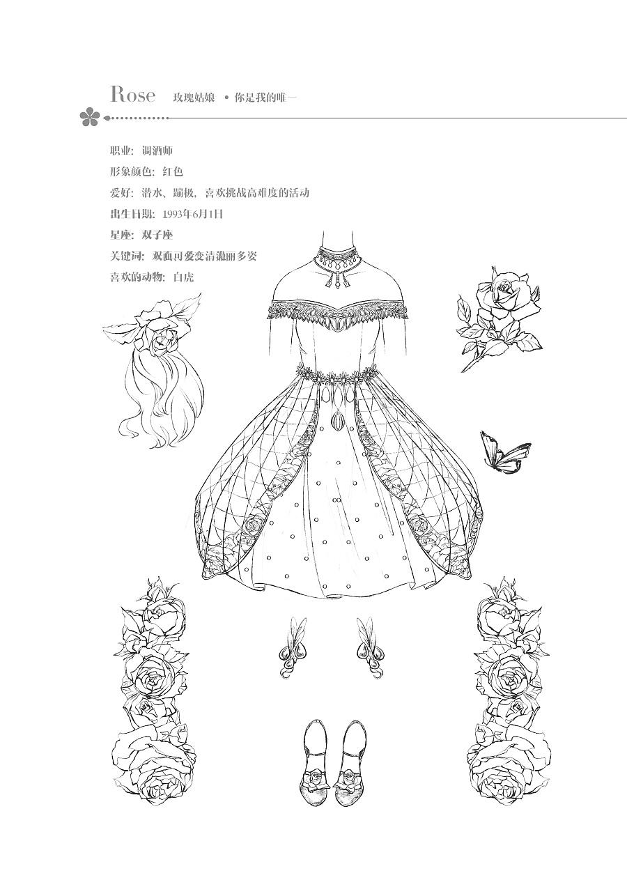 查看《【花花姑娘·倒影】玫瑰姑娘,遇见红衣》原图,原图尺寸:2481x3508