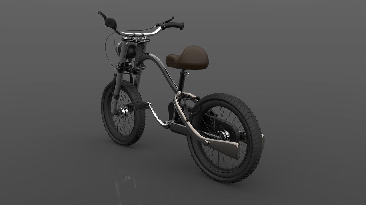 一款复古的儿童自行车|工业/产品|交通工具|该说点呢