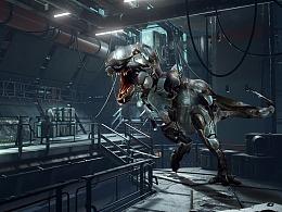 恐龙和铁血战士的合成