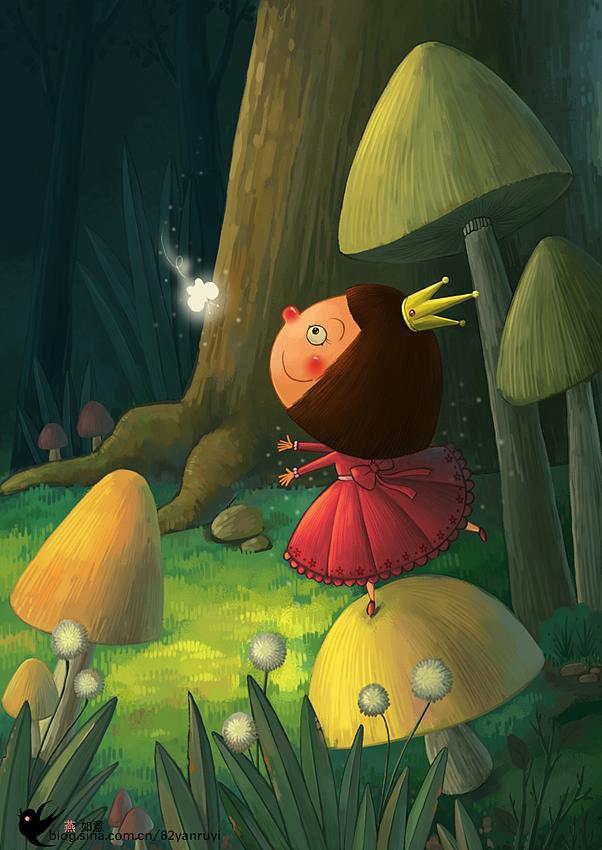 森林的小女孩