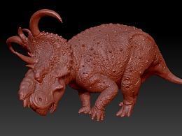 厚鼻龙 尖刺龙 3D打印模型