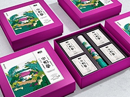 逅浓火焰蔘茶叶茶盒茶罐系列插画包装设计