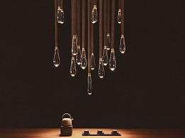 [木修远-朝露]原创新中式吊灯设计师室内软装搭配