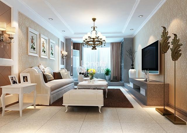 玫瑰湾f户型137平米三居室温婉现代装修设计效果图参考