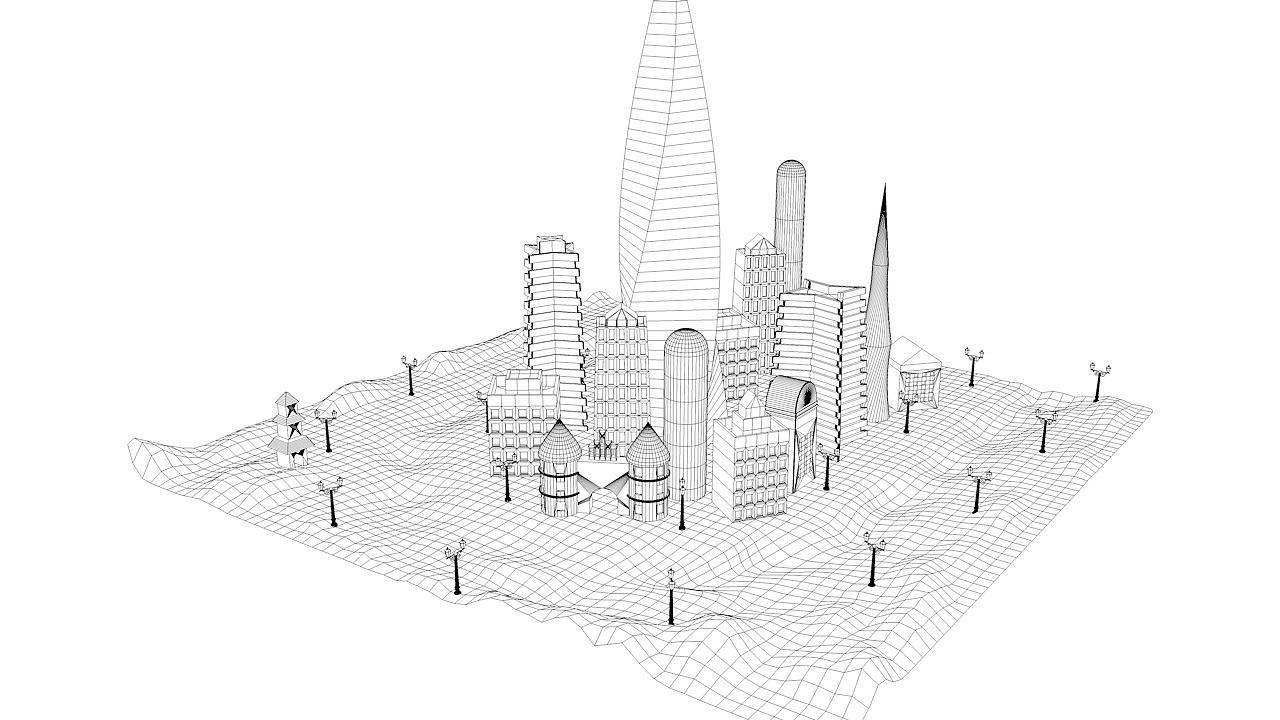 lovely city|三维|场景|5ypd - 原创作品 - 站酷
